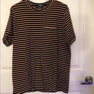 men's striped pocket tee